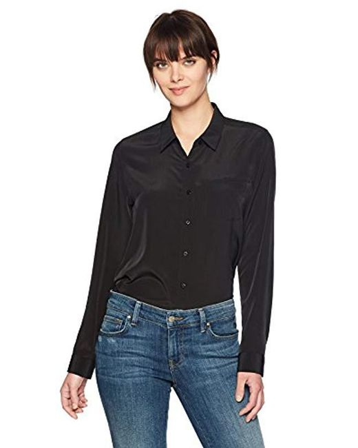NYDJ Black Button-down Shirt