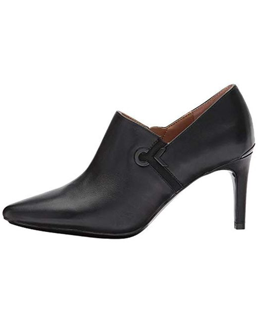 Calvin Klein - Black Joanie Leather Ankle Boot - Lyst