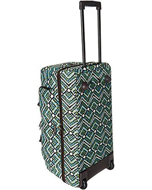 ... Vera Bradley - Green Lighten Up Large Wheeled Duffel, Polyester - Lyst  ... d84c052cd6