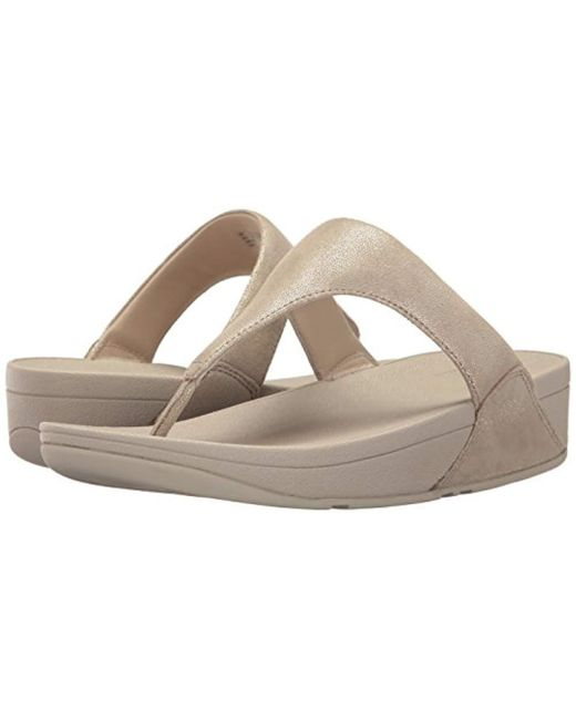 3bd56b9336af8a ... Lyst Fitflop - Multicolor Shimmy Suede Toe Post (pale Gold) Women s  Shoes ...