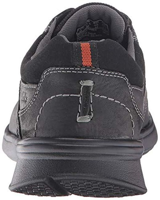 2a99ddcc4a55 ... Clarks - Black Cotrell Edge Leather Sneaker - Wide Width Available for  Men - Lyst ...