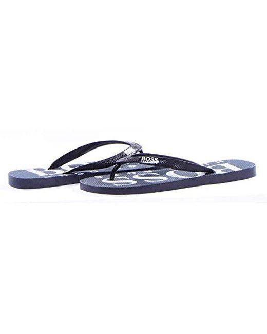 edca4d665390e9 ... BOSS - Blue Wave Thong Rubber Sandal Flip-flop for Men - Lyst ...