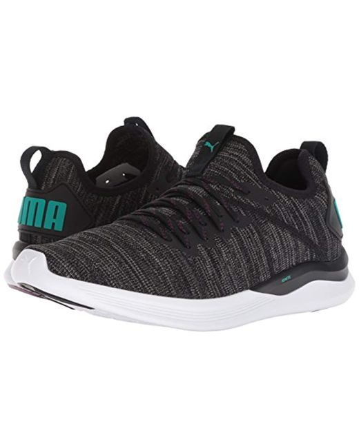 outlet store 91105 ab509 Men's Black Ignite Flash-evoknit Competition Running Shoes