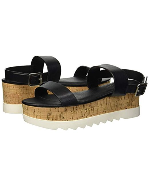 57bcf6ada25 Lyst - Madden Girl Sugarr Wedge Sandal in Black - Save 29%