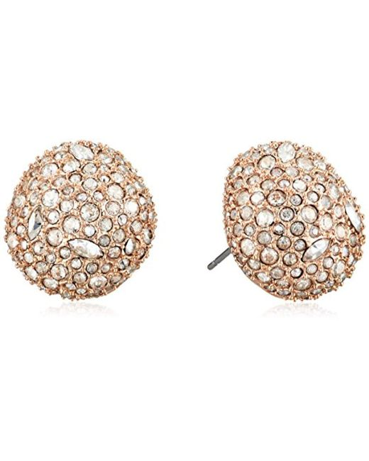 Alexis Bittar - Metallic Organic Pod Shape Crystal Encrusted Button Post 10k Plating Stud Earrings - Lyst