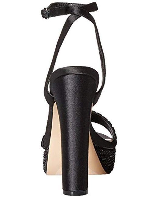 14f39aae970 Lyst - Betsey Johnson Alliie Platform Dress Sandal in Black - Save 13%