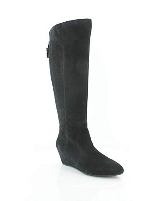 17b90cd1ae2 Anne Klein - Black Ak Sport Azriel Suede Knee High Boot - Lyst ...