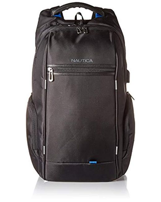 Nautica - Black Business Tech Usb Water Resistant Nylon Laptop Backpack for  Men - Lyst ... 092fd53c32