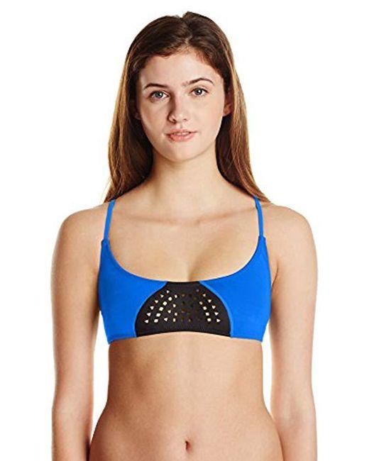 Rip Curl - Blue Bomb Laser Cut Bra Bikini Top - Lyst