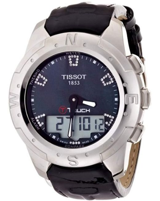 Tissot - T047.220.46.126.00 Black Mother-of-pearl Diamonds Index Dial Watch - Lyst
