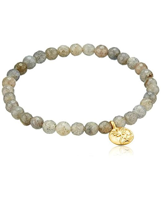 Satya Jewelry - Metallic Labradorite Lotus Stretch Bracelet - Lyst