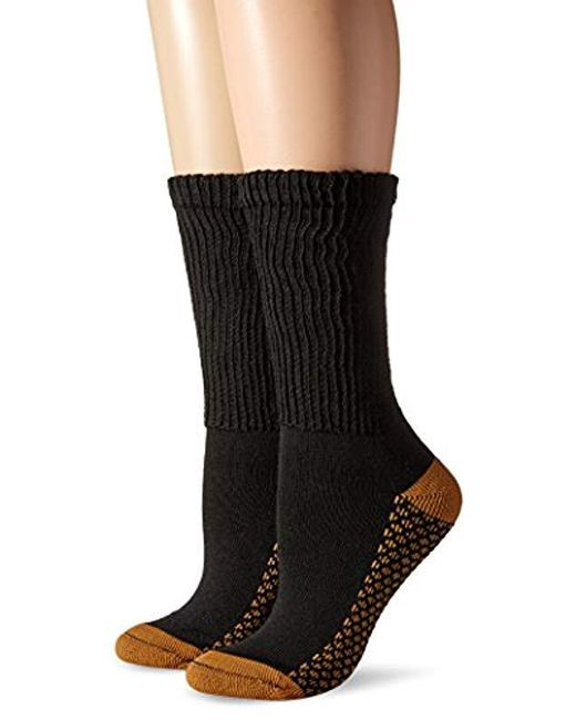 Dr. Scholls - Black Diabetic And Circulatory With Cupron Crew 2 Pack Sock - Lyst