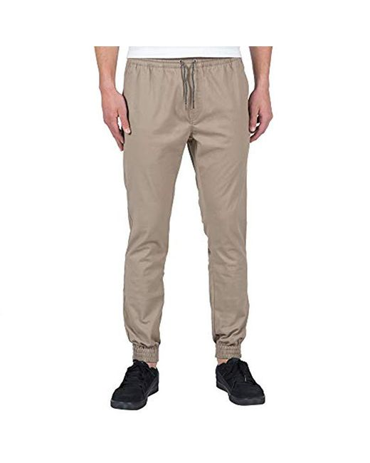 Volcom - Natural Frickin Slim Jogger Pant for Men - Lyst