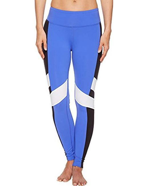 Reebok - Blue Lux Bold Tights - Lyst
