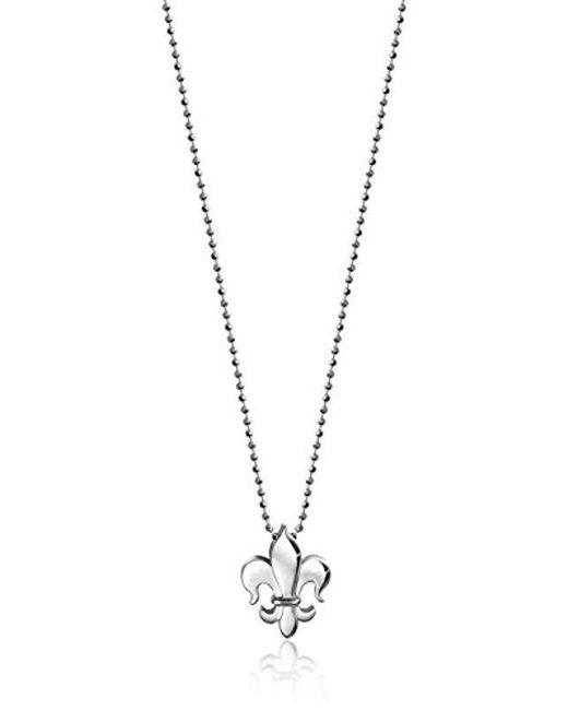 """Alex Woo - Metallic """"little Faith"""" Fleur-de-lis Pendant Necklace, 16"""" - Lyst"""