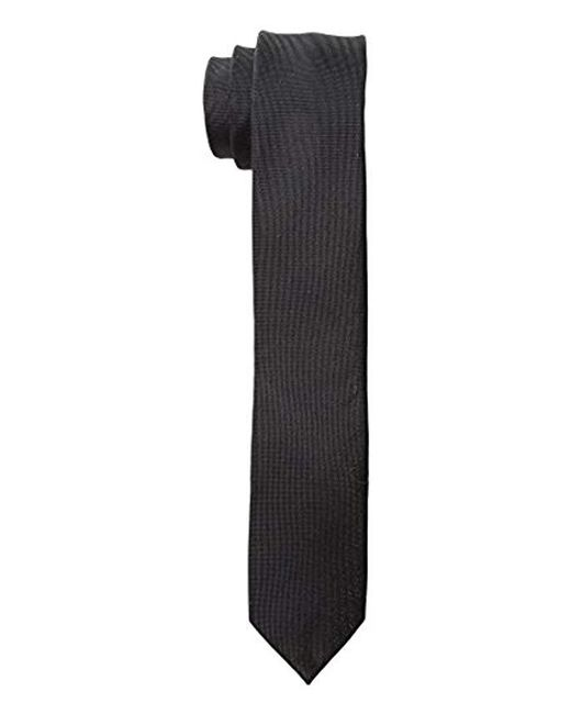 Calvin Klein - Black X Liquid Luxe Solid Tie for Men - Lyst
