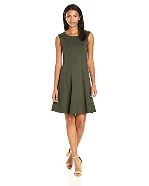 French Connection - Green Bottero Ponte Plain Dress - Lyst