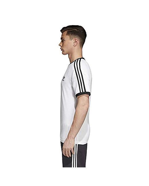 2c80c6b901f Lyst - Adidas Originals 3-stripes Tee in White for Men - Save ...