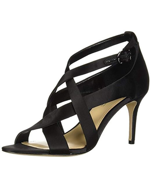 Imagine Vince Camuto - Black Paill Heeled Sandal - Lyst