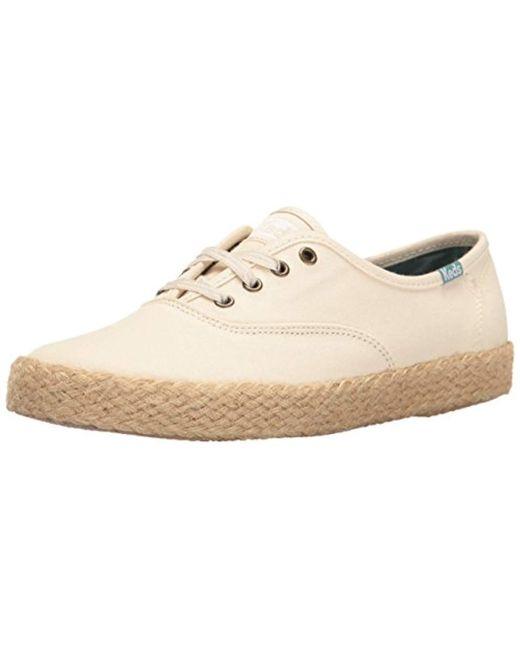 Keds - Natural Champion Salt Wash Canvas Jute Fashion Sneaker - Lyst