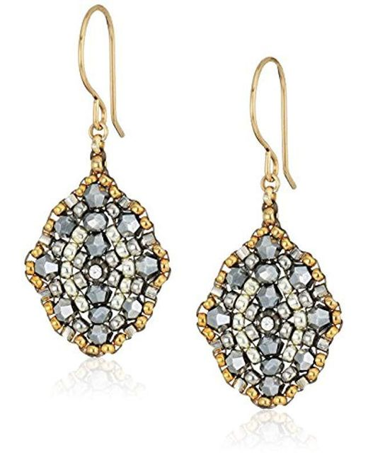 Miguel Ases - Multicolor Small Pyrite Antique Style Drop Earrings - Lyst