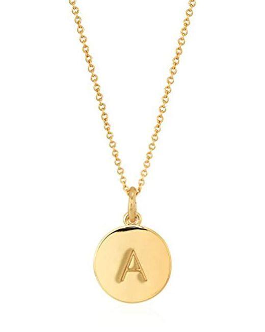 "Kate Spade - Metallic Gold-tone Alphabet Pendant Necklace, 18"" - Lyst"