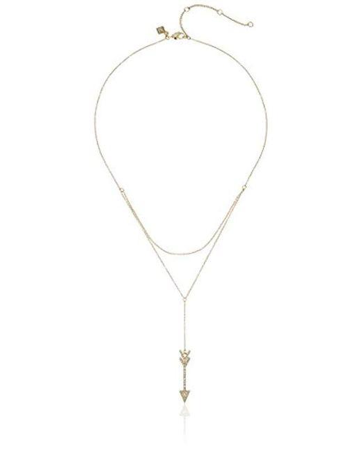 Rebecca Minkoff - Metallic Arrow Layered Y-shaped Necklace - Lyst