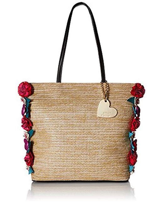 Lyst - Betsey Johnson Gypsy Rose Tote (natural) Tote Handbags in ... 5f79568efd