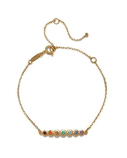 Satya Jewelry - Metallic Multi Gemstone Gold Chakra Bracelet, One Size - Lyst