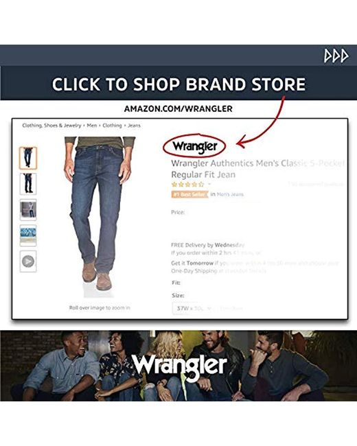fb5b7f37 ... Wrangler - Blue Authentics Big And Tall Classic Relaxed Fit Jean for  Men - Lyst