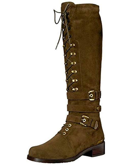 Stuart Weitzman - Green Policelady Knee High Boot, - Lyst