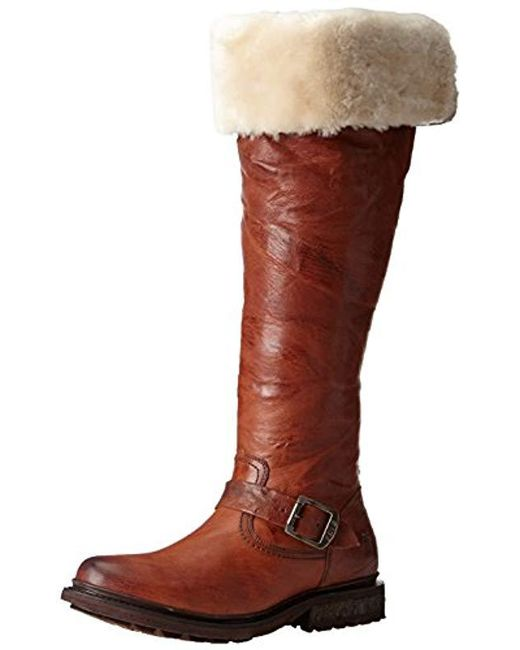 d70412a5761 Lyst - Frye Valerie Shearling Over-the-knee Riding Boot in Brown ...