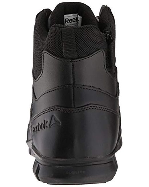 5f46a2bf49f9ba ... Reebok - Black Sublite Cushion Tactical Rb8605 Military   Tactical Boot  for Men ...