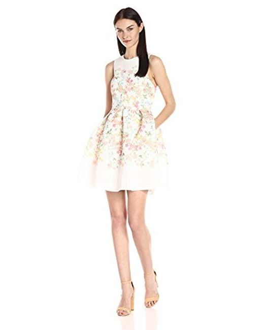2212dd012deb3 Erin Fetherston - White Erin Fit-and-flare Floral Somerset Dress - Lyst ...