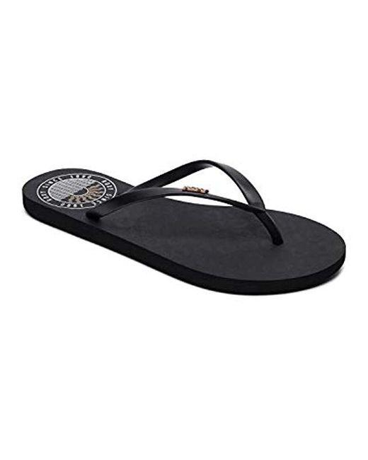 Roxy - Black Viva Stamp Flip Flop Sandal - Lyst
