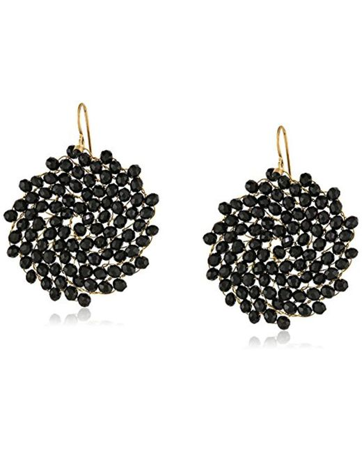 Kenneth Cole - Multicolor Jet Faceted Woven Bead Round Drop Earrings - Lyst