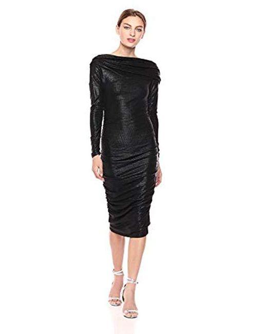 RACHEL Rachel Roy Black Gigi Drape Dress