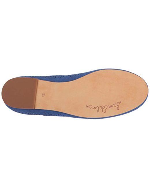 1e64a3a897b8d Lyst - Sam Edelman Felicia 2 Ballet Flat in Blue - Save ...