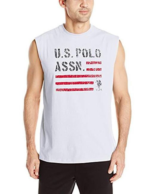 U.S. POLO ASSN. - White Classic Muscle T-shirt for Men - Lyst