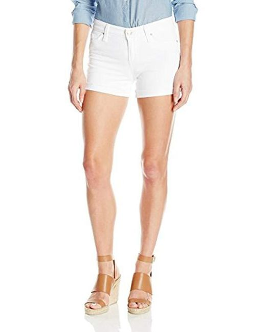Joe's Jeans - Turn Up Cuff White Short - Lyst