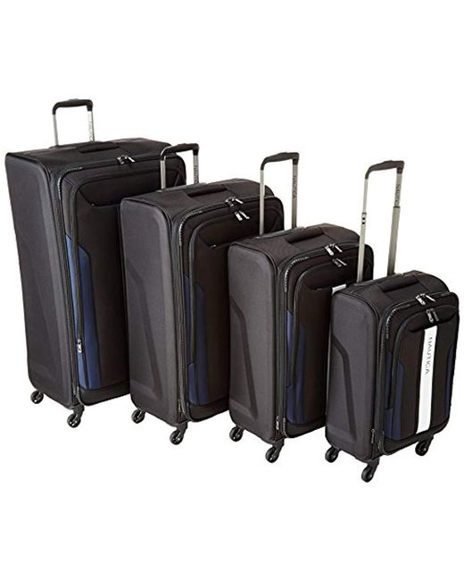 945156797 Nautica - Black 4 Piece Spinner Luggage Set for Men - Lyst ...