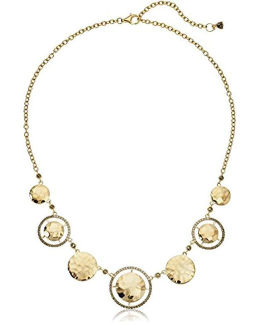 Judith Jack - Metallic Sterling Silver/swarovski Marcasite Gold-tone Frontal Necklace - Lyst