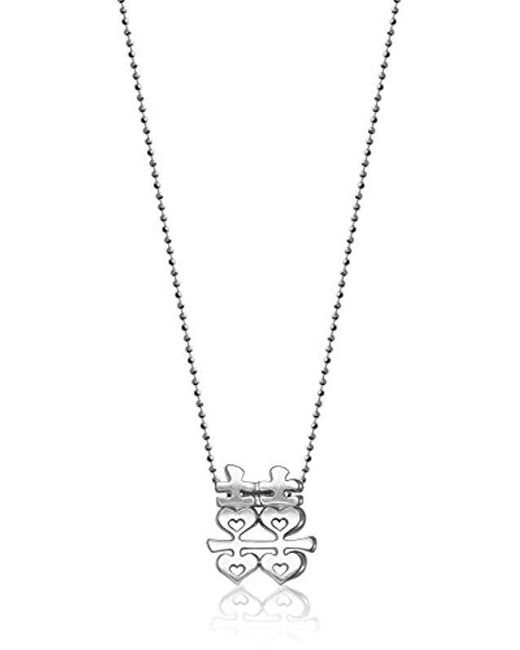 "Alex Woo - Metallic Little Faith Sterling Silver Chinese Double Happiness Pendant Necklace, 16"" - Lyst"
