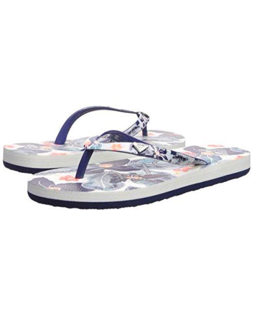 6fc45f530 Lyst - Roxy Portofino Flip Flop Sandals
