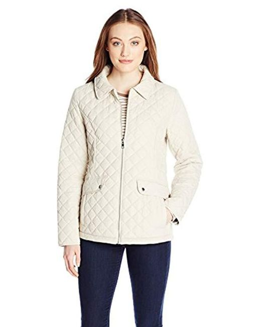 ea4736d0039 Tommy Hilfiger - Natural Zip Front Quilted Jacket - Lyst ...