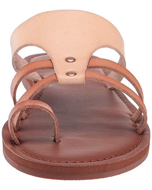 ad6cca5eb6 Roxy Pauline Sandal Slide in Brown - Save 3% - Lyst