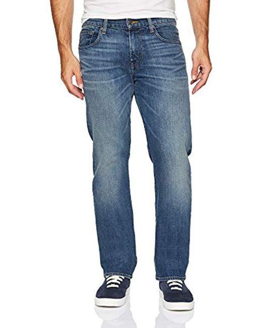7 For All Mankind - Blue Carsen Easy Straight Leg Jean for Men - Lyst