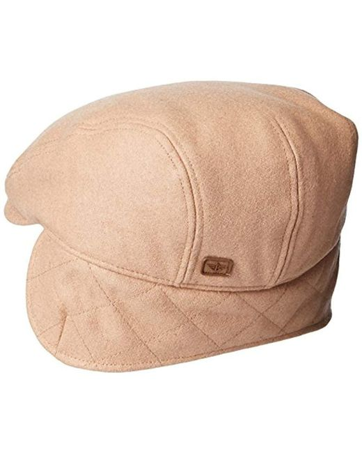 ... Dockers - Natural Solid Melton Hat With Fold-down Ear Flaps for Men -  Lyst ... ebf163987890