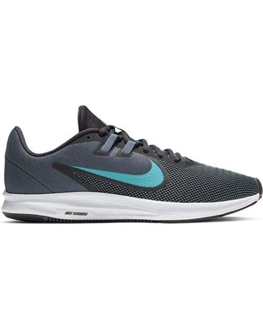 e9d834ce ... Nike - Downshifter 9 Running Shoes, Lightweight Mesh Sneakers, Gym Black-university  Red ...