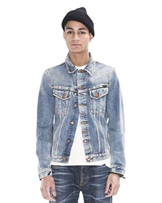 Nudie Jeans - Blue Billy Shimmering Indigo Denim Jacket for Men - Lyst